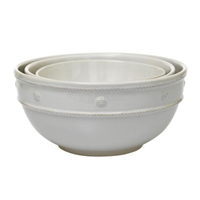 Berry and Thread White Mixing Bowls (Set of 3) by Juliska