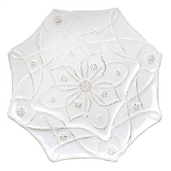 Alcazar White Dessert Plate by Juliska