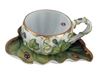 Afternoon Tea Party Tea Cup & Saucer by Anna Weatherley
