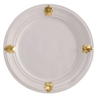 Acanthus Gold Dessert Plate by Juliska