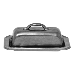 Pewter Stoneware Butter Dish by Juliska