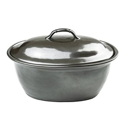 Pewter Stoneware Medium Covered Casserole Dish by Juliska