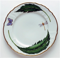 Green Leaf Dinner Plate by Anna Weatherley