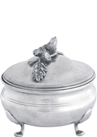 Acorn Oak Leaf Sauce Bowl (Pewter) by Vagabond House