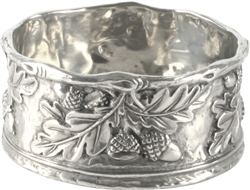 Acorn & Oak Leaf Pewter Wine Coaster by Vagabond House