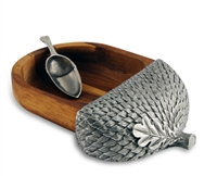 Wood Acorn Nut Bowl with Scoop by Vagabond House
