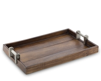 Wood Tray with Faux Bois Handles  by Vagabond House