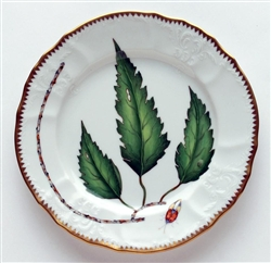 Green Leaf Salad Plate by Anna Weatherley