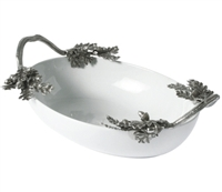 Acorn/Oak Leaf Stoneware Serving Dish by Vagabond House