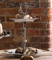 Acorn Oak Leaf Dessert Stand by Vagabond House