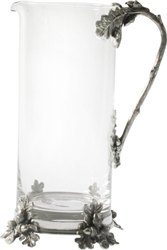 Acorn/Oak Leaf Glass Pitcher by Vagabond House