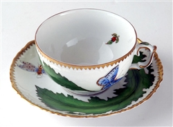 Green Leaf Cup & Saucer by Anna Weatherley