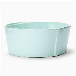 Lastra Aqua Medium Serving Bowl by VIETRI