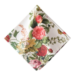 Field of Flowers White Napkin by Juliska