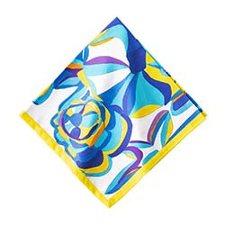 Blue Rose Napkin by Juliska