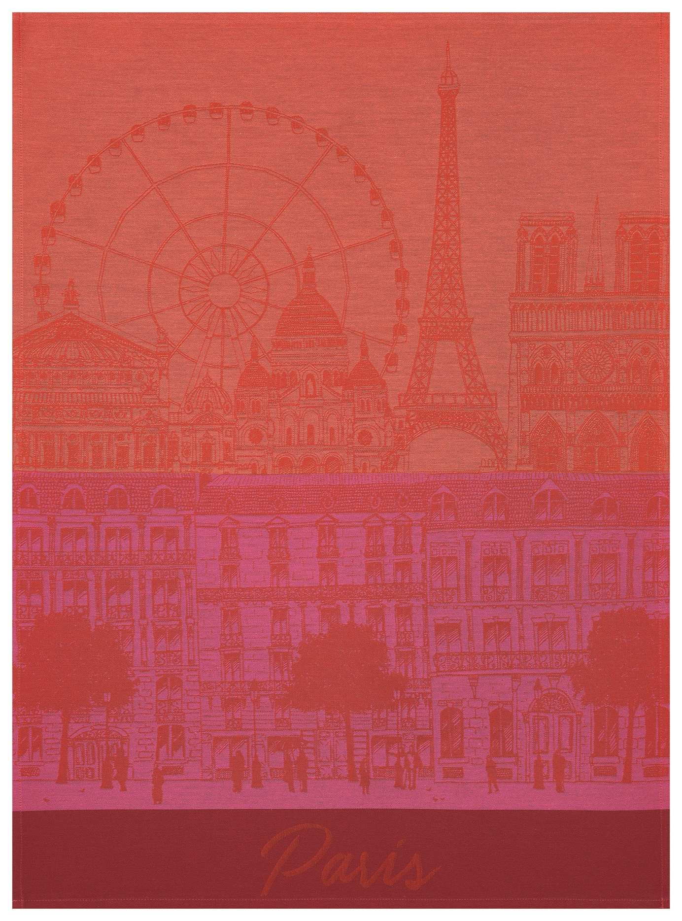 Le Jacquard Francais Paris Panorama Tea Towels
