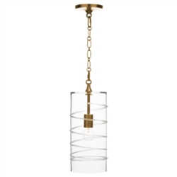 Amalia Brass Column Pendant by Juliska