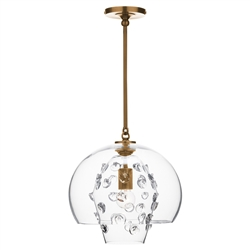 Florence Brass Grande Double Shade Pendant by Juliska