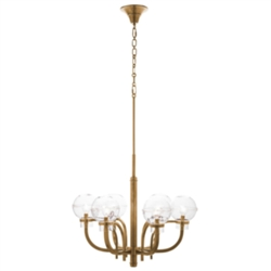 Graham Globe on Brass London Chandelier by Juliska
