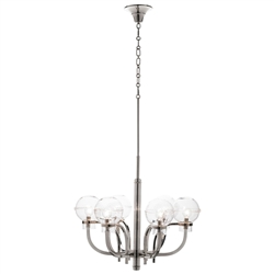 Graham Globe on Nickel London Chandelier by Juliska