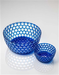 Lente Blue Salad Bowl by Mario Luca Giusti