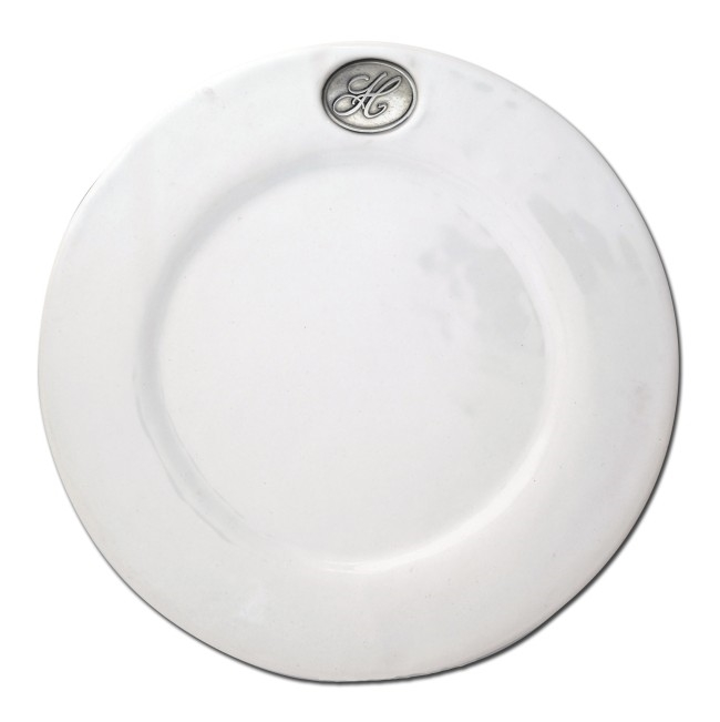 Monogram Stoneware Dinner Plate by Vagabond House  sc 1 st  Sallie Home & Vagabond House - Monogram Stoneware Dinner Plate