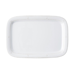 "Al Fresco Berry and Thread White 16"" Serving Tray by Juliska"