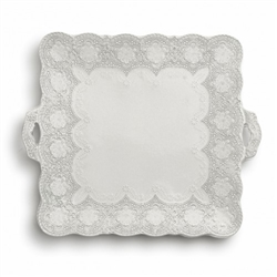 Merletto Antique Square Platter with Handles by Arte Italica