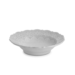 Merletto White Serving Bowl by Arte Italica