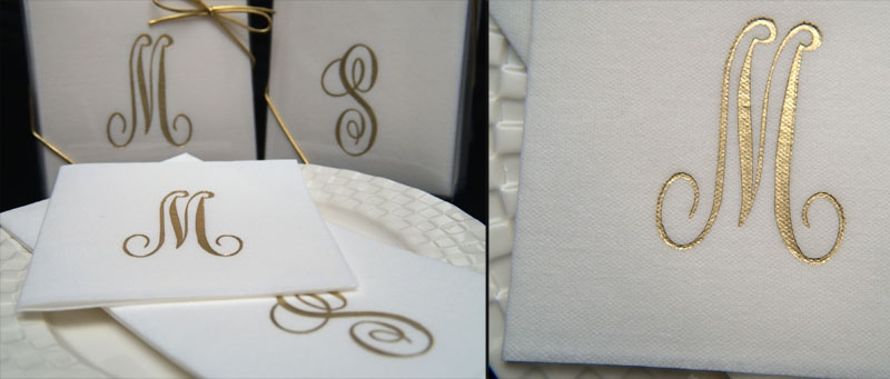 . Monogrammed Initial Paper Guest Towels