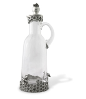 Honeycomb Glass and Pewter Syrup Pitcher by Vagabond House