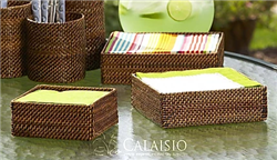 "NH3 - Dinner Napkin Holder, 8.5"" sq x 2.25""H by Calaisio"
