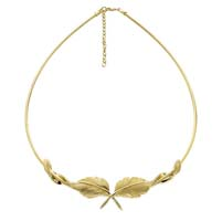 Feather Necklace with Omega Silver/Gold by Grainger McKoy