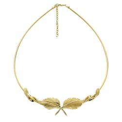 Feather Necklace with Omega by Grainger McKoy