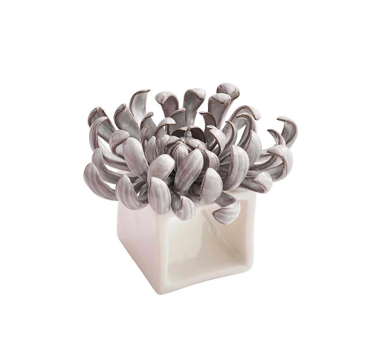 Kim Seybert Ceramic Flower Napkin Rings Set Of Four