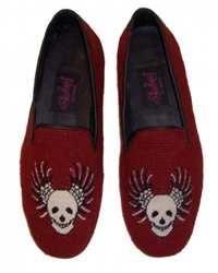 ByPaige - Skull with Wings Needlepoint Loafers for Men