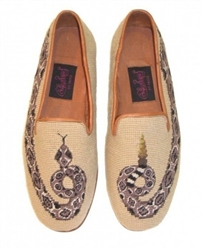 ByPaige - Rattlesnake Needlepoint Loafers for Men