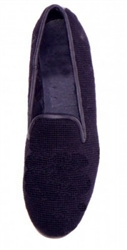 ByPaige - Black Needlepoint Smoking Slipper for Men