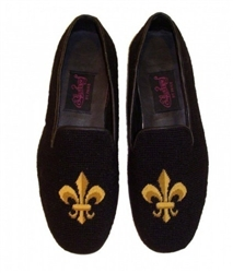 ByPaige - Fleur de Lis Needlepoint Loafers for Men