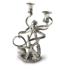 2 Socket Octopus Candelabrum by Vagabond House