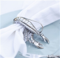 Pewter Prawn Napkin Ring- Vagabond House