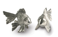 Pewter Goldfish Salt and Pepper Set by Vagabond House