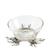 Small Crab Glass Dip Bowl- Vagabond House