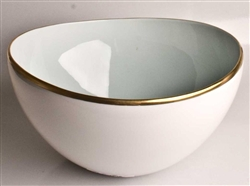 Powder Blue Open Vegetable Bowl by Anna Weatherley