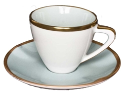 Powder Blue Expresso Cup & Saucer by Anna Weatherley