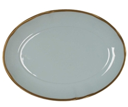 Powder Blue Oval Platter by Anna Weatherley