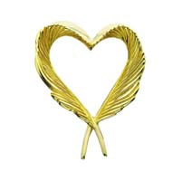 Heart Feather Pendant Silver/Gold by Grainger McKoy