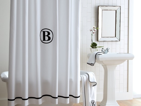 Pique Tailored Shower Curtain