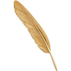 Dove Tailfeather Pin Silver/Gold by Grainger McKoy