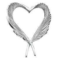 Heart Feather Pin Silver/Gold by Grainger McKoy